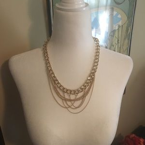 Gold Chain link layered Necklace